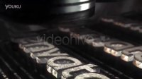 A0088--《钢铁锻造工厂》牛逼的重金属车间LOGO展示AE模板