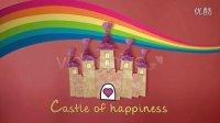 《幸福的城堡》温馨卡通儿童家庭婚礼相册展示AE模板!