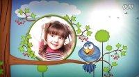 NO.842 清新自然的卡通儿童视频相册模板 AE模板