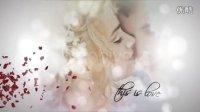 A0227唯美光斑浪漫玫瑰爱心花瓣飘落的婚礼相册展示AE模板