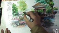 景观手绘 园林 建筑手绘 室内设计 重庆手绘 手绘教程 艺道