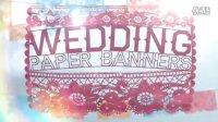 A0075   时尚中国风剪纸艺术婚礼浪漫唯美婚庆片头AE模板