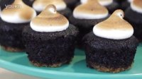 [kawaiisweetworld] How to Make Smores Cupcakes! 好吃烤棉花糖饼干杯子蛋糕