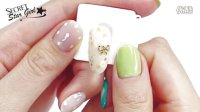 [POLARIS NAIL] 韩式小清新大理石蝴蝶结美甲设计 - [??????] ????? ???? / Marble Flower Nail Art