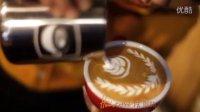 latte art 荆棘玫瑰 绘咖啡拉花视频