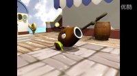 3D椰子加农炮动画