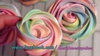 彩虹玫瑰蛋白饼干Rainbow Rose Meringue Cookies