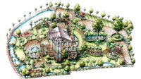 光华手绘 别墅规划设计鸟瞰表现20150201 01