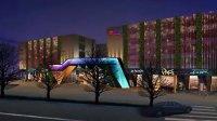 伊电园建筑夜景照明动画设计-引航灯照明设计机构