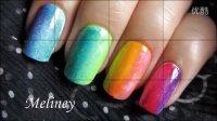 指尖的彩虹——5款渐变色指甲彩绘教程 RAINBOW GRADIENT NAIL ART