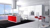 米雄整体厨房橱柜设计多功能不锈钢铁线扁铁炉台板式拉篮专业安装视频教程设计方法方式步骤