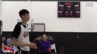 中国球员周琦Zhou Qi - 2015 Nike Hoop Summit - Shooting Drills