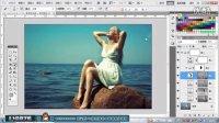 PS修图调色合成海的女儿摄影作品
