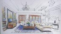 室内手绘彩铅上色,手绘彩铅上色,手绘用彩铅,室内手绘彩铅技法,室内设计彩铅手绘,彩铅手绘教程