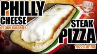 【大吃货爱美食】72369大卡!7622g脂肪!丧心病狂的极品巨型牛排奶酪披萨! 150617