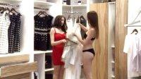 外国妞的身材就是好!2个外国女模特上演脱衣激情秀!!