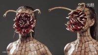 食人异形蜗牛/寄生兽特效化妆教程