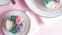 【微博@肥肉ai烘焙】 韩式裱花装饰蛋糕