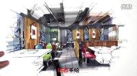 餐厅空间设计手绘表现