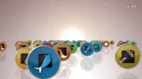 A1153 社交媒体网络促销广告企业宣传3D图标汇聚LOGO标志片头AE模板