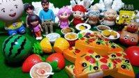 海绵宝宝大耳朵图图亲子过家家食玩沙拉水果切切看猪猪侠面包超人爱探险的朵拉历险记