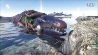 【虾米解说】方舟生存进化52,沧龙蠢蠢哒以及笨笨的大企鹅和鮟鱇鱼以及悼念逝去的大白鲨三兄弟