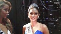 2015环球小姐乌龙后的冠军菲律宾和亚军哥伦比亚的后台采访