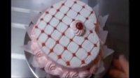 裱花蛋糕, 爱心蛋糕, 樱桃蛋糕 ,制作教程