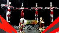 145-【天帝评测】万代 ultra act 系列 魂限定 艾斯机器人&高格达行星套装