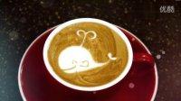 咖啡拉花韩国咖啡师韩式拉花可爱小海豚