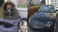 英国乞丐开豪车被砸 12