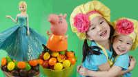 姐妹美食与玩具 2016 冰雪奇缘与粉红猪小妹杯子蛋糕 07