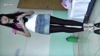 美女宿舍·黑色紧身裤·健美裤·微拍·