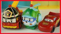 开心时刻与玩具介绍 2016 警车珀利与赛车总动员闪电麦昆比赛 30