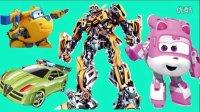 变形金刚救援机器人之超级飞侠汽车总动员 百变军团玩具