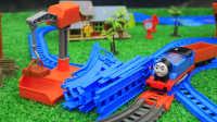 托马斯和他的朋友们 #005# 铺设新轨道 轨道大师 托马斯小火车 玩具