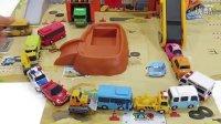 面包超人的迪士尼城堡礼物 汽车总动员公交车变形警车法拉利工程车