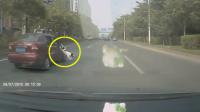 前车跳出一条狗,你会怎么做?