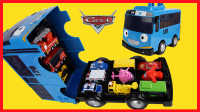 开心时刻与玩具介绍 2016 赛车总动员超级飞侠变形警车珀利Tayo公交车车库 48