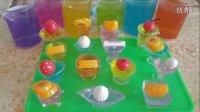 水果总动员DIY制作 水晶黏土果冻布丁 亲子早教小游戏