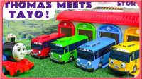 赛车总动员 托马斯小火车和TAYO公交车的初期见面 托马斯和他的朋友们 玩具拆箱 试玩 中文动画 超级飞侠 小猪佩奇