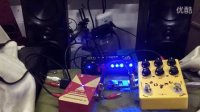 CL DI箱体模拟 土豪金现代 金属失真 单块效果器接迷你功放飞利浦音箱