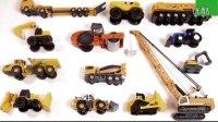 各种工程车吊车挖掘机集中展示 推土机搅拌车压路机汽车总动员玩具大全