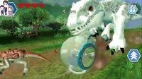 乐高侏罗纪世界手机版第4期:陀螺球逃脱和暴虐霸王龙逃脱★恐龙积木玩具游戏