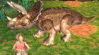 乐高侏罗纪世界手机版04拯救三角龙 侏罗纪公园恐龙总动员恐龙世界恐龙当家恐龙战车恐