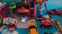 汽车玩具轨道 变形警车珀利四驱赛车各种法拉利跑车总动员