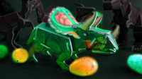 三角龙立体拼图积木侏罗纪恐龙儿童亲子游戏益智玩具奇趣蛋过家家视频