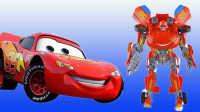 汽车总动员闪电麦昆托马斯和他的朋友们小汽车欧力机甲兽神爆裂飞车变形警车珀利魔幻车神小火车玩具车视频