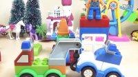 警车吊车教程乐高积木玩具解说百变汽车总动员DIY过家家益智亲子玩具试玩视频