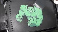 煎饼艺术之绿巨人Marvel超级英雄的煎饼